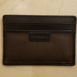 Coach leather business/credit card holder, OS